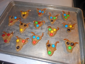 Kids' Colorful Reindeers ready to bake