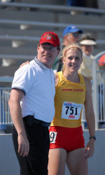 Dad and me at Drake Relays