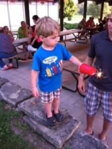 Lighting the Sparkler