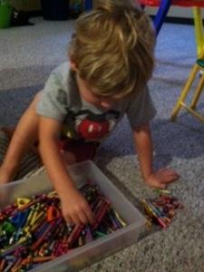 Finding broken crayons