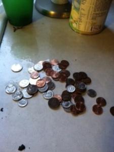 money found in disposal