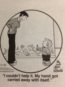 Family Circus comic drawing