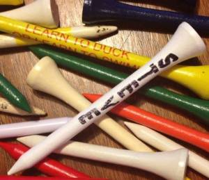 golf tees remembering dad