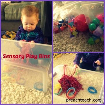 sensory play bins