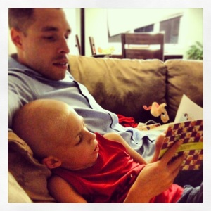 reading to daddy