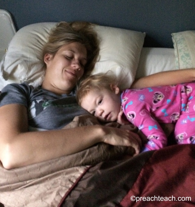 baby in bed co-sleeping
