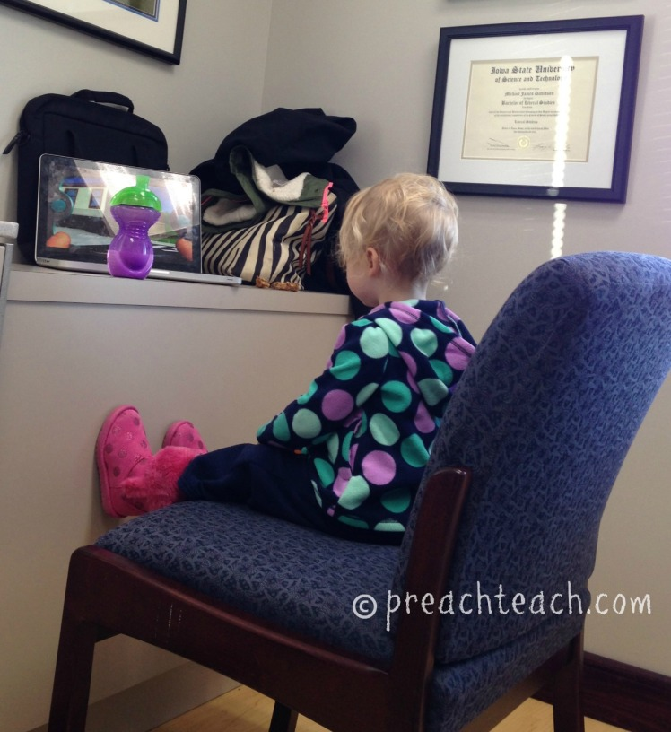 occupied baby during dentist appointment