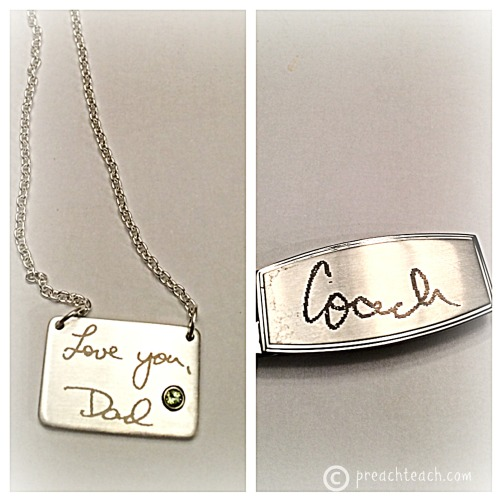 engraved memory jewelry