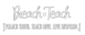 Preach Teach blog Logo Header