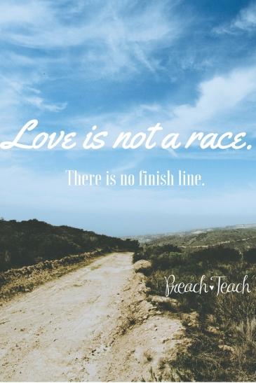 Love is not a race